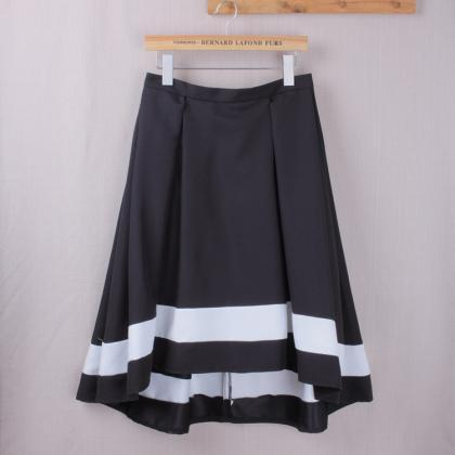 Women High Low Midi Skirt High Wais..