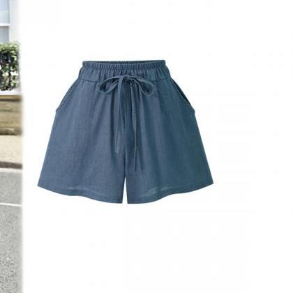 Women Wide Leg Shorts Plus Size Sum..