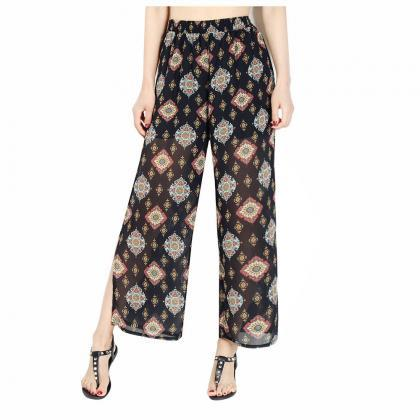 Women Chiffon Loose Casual Pants Hi..