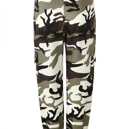 Women Camouflage Harem Pants Casual..