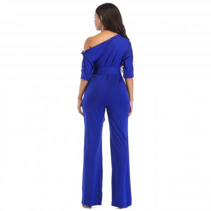 Women Jumpsuit Off the Shoulder Ha..