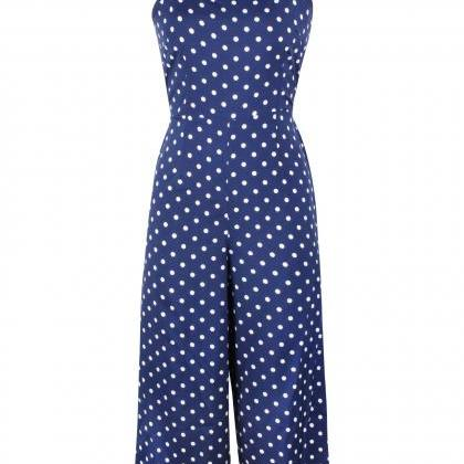 Women Polka Dot Jumpsuit Spaghetti ..