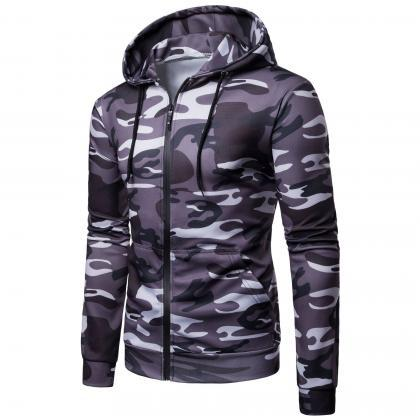 Men Camouflage Coat Spring Autumn T..