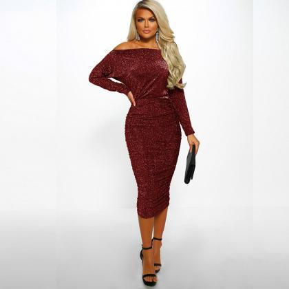 Women Pencil Dress Sexy Off the Sho..