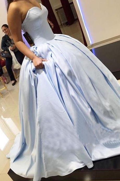 Fashion Ball Gown Prom Dresses V-Neck Satin Ruched Princess Backless Long Formal Gowns Party Dresses Guest Gowns