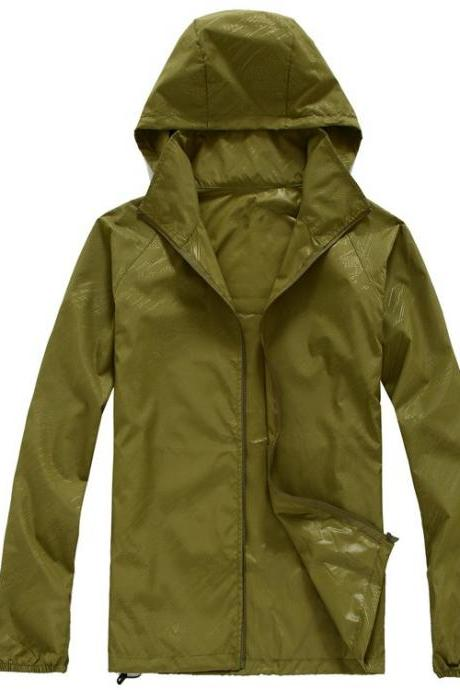Unisex Sun Protection Clothes Outdoor UV-Proof Quick Dry Fishing Climbing Coat Women Men Hooded Jacket army green