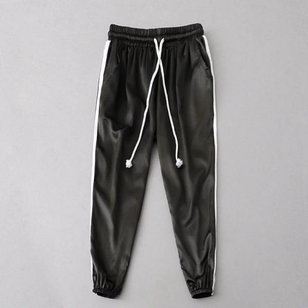 Sweatpants Women Sport Pants Joggers Casual Harlan Yoga Gym Side Striped Drawstring High Waist Lady Femme Trousers black