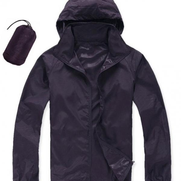 Unisex Sun Protection Clothes Outdoor UV-Proof Quick Dry Fishing Climbing Coat Women Men Hooded Jacket dark purple