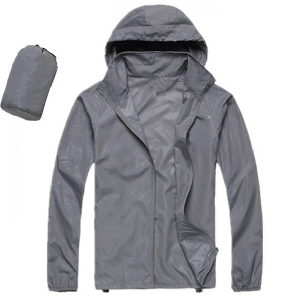 Unisex Sun Protection Clothes Outdoor UV-Proof Quick Dry Fishing Climbing Coat Women Men Hooded Jacket gray