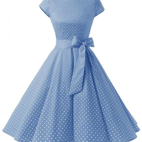 Vintage Polka Dot Dress Wo..