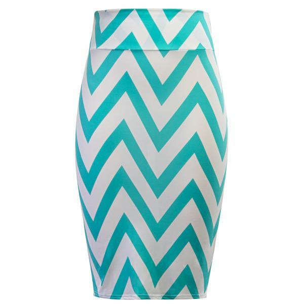 Women Striped Pencil Skirt..